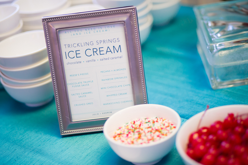 Ice Cream Bar Instead Of Wedding Cake