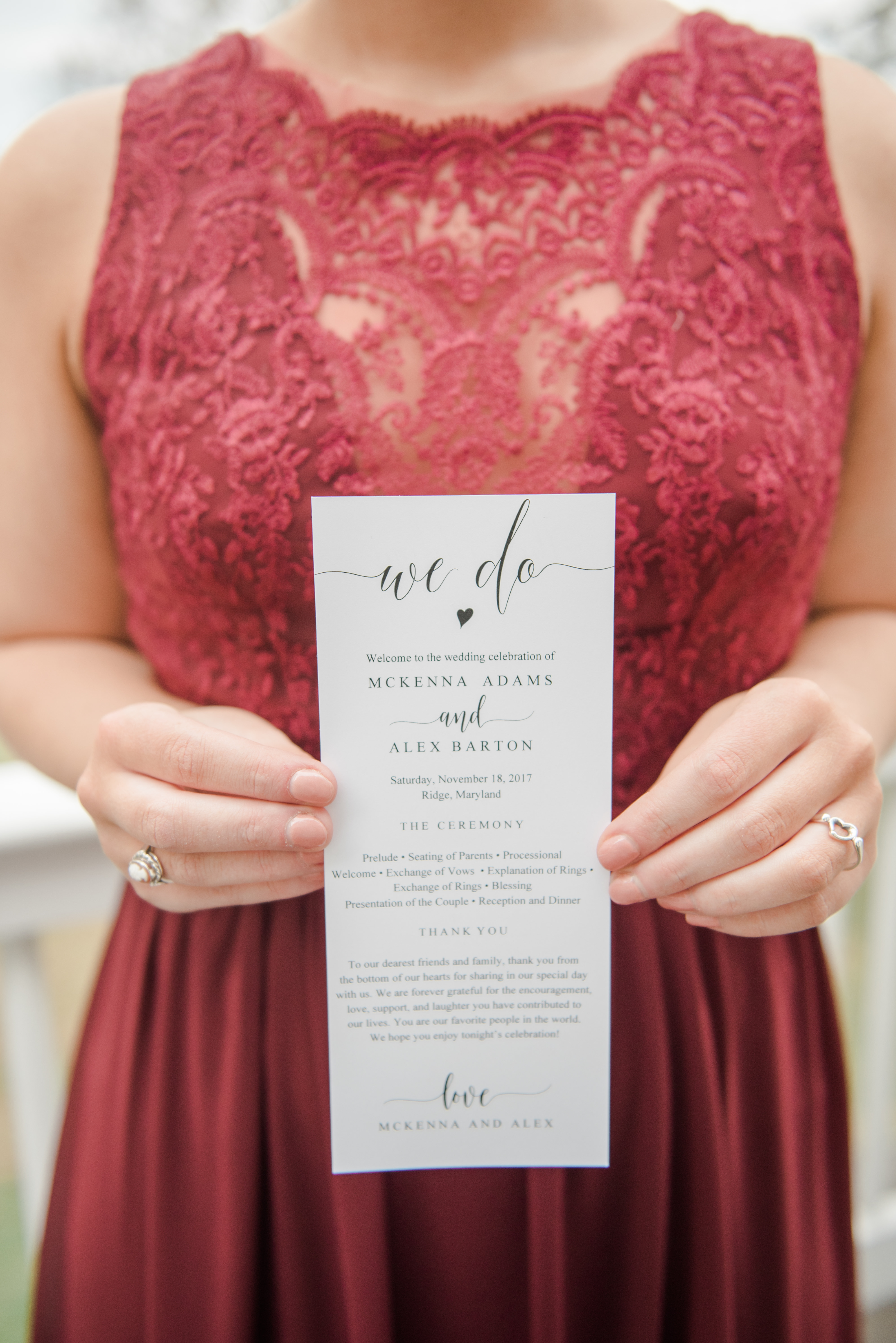 Coastal Cranberry and Blue Maryland Wedding - United With Love