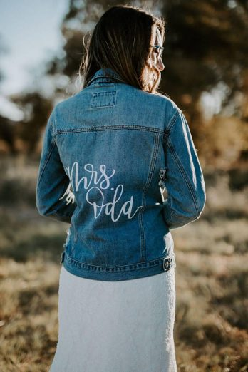 312ebdc6b0a Proudly sport your new last name in one of these beauties! These  personalized wedding jackets are perfect for photos with or without your  new spouse.